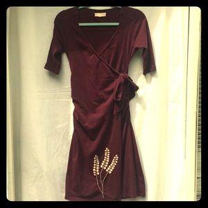 Synergy Organic Cotton Faux Wrap Dress